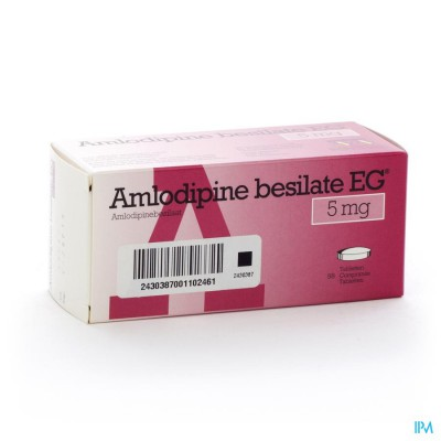 Amlodipine Besilate Eg Comp 98 X 5mg