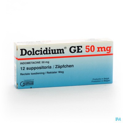 DOLCIDIUM SUPP 12 X 50 MG
