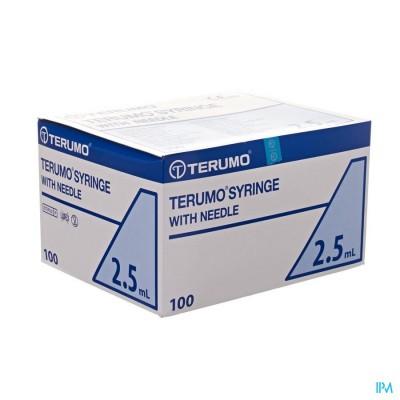TERUMO SPUIT 2,5ML MET NAALD 21G 1 1/2 100