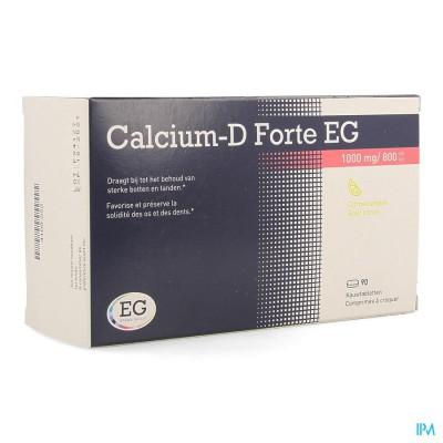 CALCIUM-D FORTE EG 1000MG/800IE CITROEN KAUWTABL90