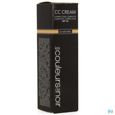 LES COULEURS DE NOIR CC CREAM IP30 02 NATUREL 30ML