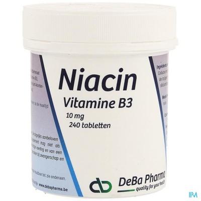 NIACIN 10MG CAPS 240 DEBA