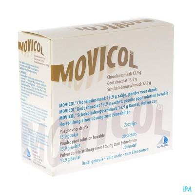 Movicol Chocolade Smaak Zakjes 20 X 13,7g