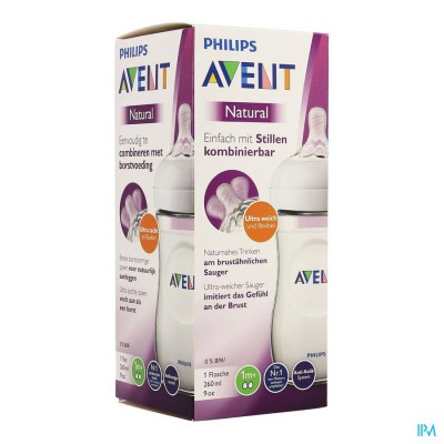 PHILIPS AVENT NATURAL 2.0 ZUIGFLES 260ML