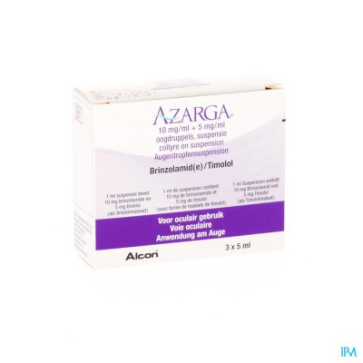 AZARGA COLLYRE SUSP. 3 X 5 ML