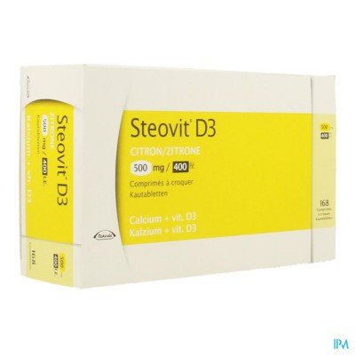 STEOVIT D3 500MG/400IE COMP 168