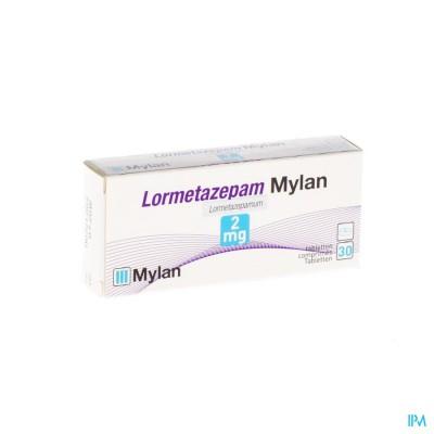 Lormetazepam Mylan 2mg Comp 30 X 2mg