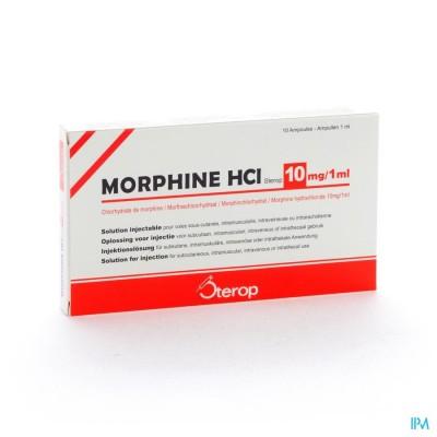 MORPHINE HCL AMP 10 X 10MG/1ML S/C