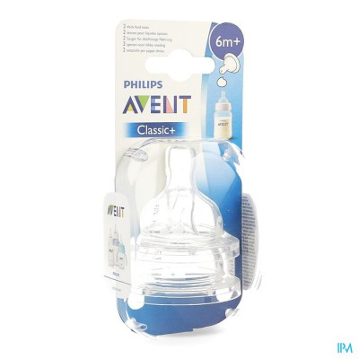 PHILIPS AVENT SPEEN DIKKERE PAP SIL 2