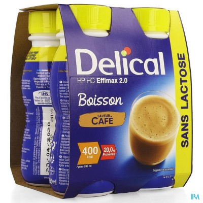 DELICAL EFFIMAX 2.0 KOFFIE 4X200ML