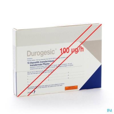 DUROGESIC PL EMP 10X100MCG/HEURE/UUR