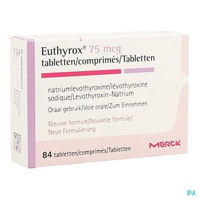 EUTHYROX 75MCG COMP 84 NF