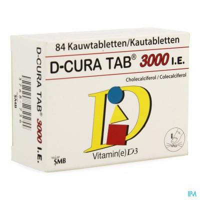D-CURA TAB 3000 KAUWTABLETTEN 84