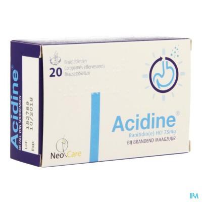 Acidine 75mg Bruistabl 20 X 75mg