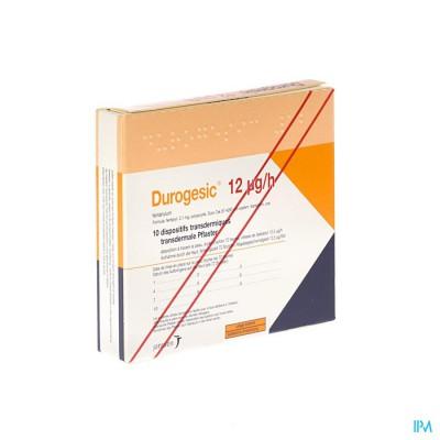 Durogesic Pl Emp 10x 12mcg/heure/uur