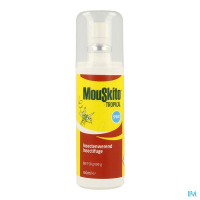 Mouskito Tropical Tropische gebieden 50% DEET 100 ml spray
