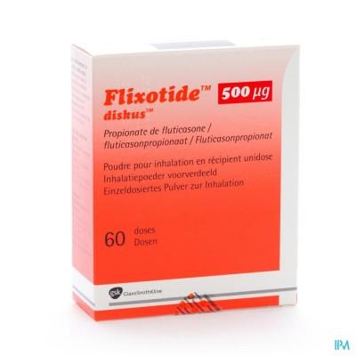 Flixotide 500 Diskus Pulv Inh 60dos