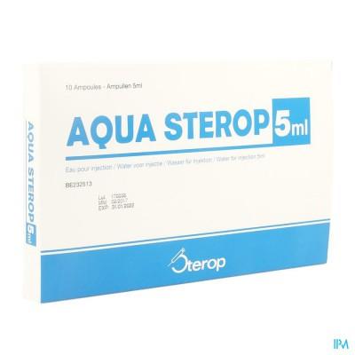 AQUA STEROP POUR INJ SOLVENS AMP 10 X 5ML
