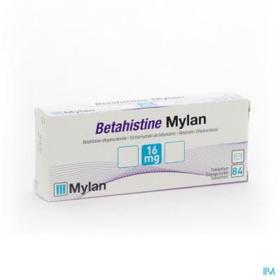 Betahistine Mylan 16mg Comp 84 X 16mg