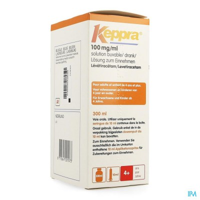 KEPPRA SOL PER OS 100MG/1ML 300ML