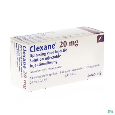 Clexane Spuit Inj 10 X 20mg/0,2ml