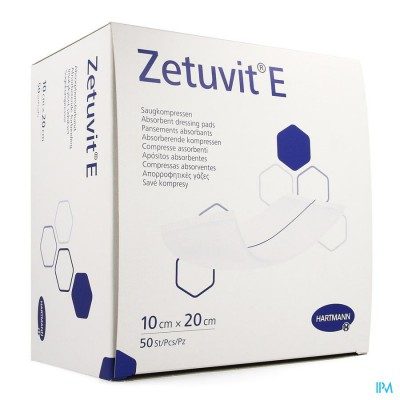 Zetuvit E Hartm N/st 10x20cm 50 4138612