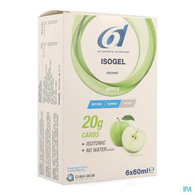6D SIXD ISOGEL APPLE 6X60ML