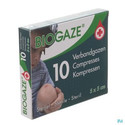 BIOGAZE VERBANDGAAS GEIMPREGNEERD 5X 5CM 10