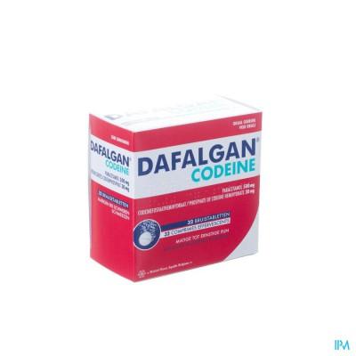 Dafalgan Codeine Bruis 500mg Tabl 32