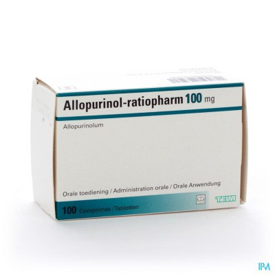 ALLOPURINOL RATIOPHARM COMP 100X100MG