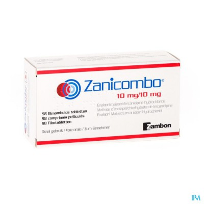 ZANICOMBO 10 MG/10 MG FILMOMH TABL 98