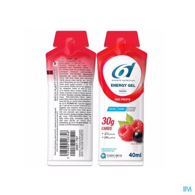 6D SIXD ENERGY GEL RED FRUITS 40G