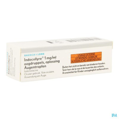 Indocollyre Sol Opht 1 X 5ml 0,1%
