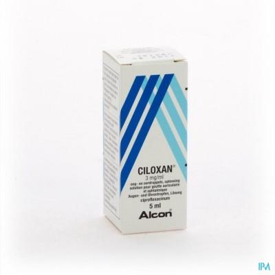 Ciloxan Gutt Opht + Auric 5ml 0,3%